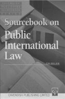 Cover image for Sourcebook on public international law.