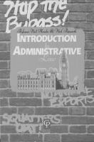 Cover image for Introduction to administrative law.
