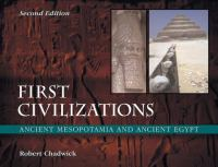 Cover image for First civilizations : ancient Mesopotamia and ancient Egypt