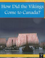 Cover image for How did the Vikings come to Canada?