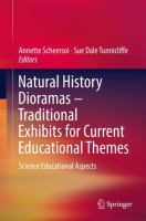Cover image for Natural History Dioramas - Traditional Exhibits for Current Educational Themes Science Educational Aspects