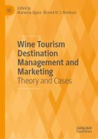 Cover image for Wine Tourism Destination Management and Marketing Theory and Cases