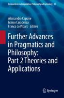 Cover image for Further Advances in Pragmatics and Philosophy: Part 2 Theories and Applications
