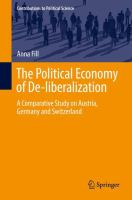 Cover image for The Political Economy of De-liberalization A Comparative Study on Austria, Germany and Switzerland