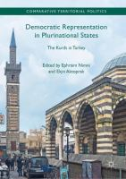Cover image for Democratic Representation in Plurinational States The Kurds in Turkey
