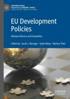 Cover image for EU Development Policies Between Norms and Geopolitics