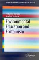 Cover image for Environmental Education and Ecotourism