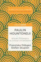 Cover image for Paulin Hountondji African Philosophy as Critical Universalism