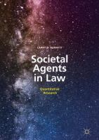 Cover image for Societal Agents in Law Quantitative Research