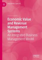 Cover image for Economic Value and Revenue Management Systems An Integrated Business Management Model