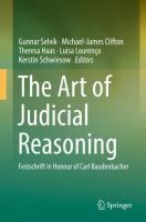 Cover image for The Art of Judicial Reasoning Festschrift in Honour of Carl Baudenbacher