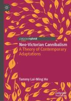 Cover image for Neo-Victorian Cannibalism A Theory of Contemporary Adaptations