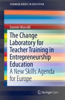 Cover image for The Change Laboratory for Teacher Training in Entrepreneurship Education A New Skills Agenda for Europe