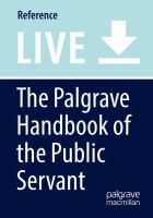 Cover image for The Palgrave Handbook of the Public Servant