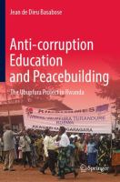 Cover image for Anti-corruption Education and Peacebuilding  The Ubupfura Project in Rwanda