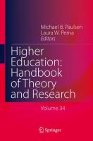Cover image for Higher Education: Handbook of Theory and Research Volume 34