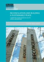 Cover image for Reconciliation and Building a Sustainable Peace Competing Worldviews in South Africa and Beyond