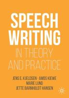 Cover image for Speechwriting in Theory and Practice