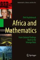 Cover image for Africa and Mathematics From Colonial Findings Back to the Ishango Rods