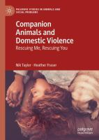 Cover image for Companion Animals and Domestic Violence Rescuing Me, Rescuing You
