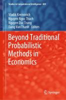 Cover image for Beyond Traditional Probabilistic Methods in Economics