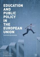 Cover image for Education and Public Policy in the European Union Crossing Boundaries