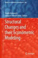 Cover image for Structural Changes and their Econometric Modeling