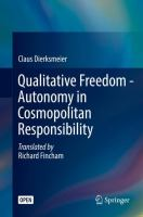Cover image for Qualitative Freedom - Autonomy in Cosmopolitan Responsibility