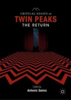 Cover image for Critical Essays on Twin Peaks: The Return
