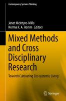 Cover image for Mixed Methods and Cross Disciplinary Research Towards Cultivating Eco-systemic Living
