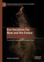 Cover image for Eco-Socialism For Now and the Future Practical Utopias and Rational Action