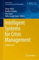 Cover image for Intelligent Systems for Crisis Management Gi4DM 2018