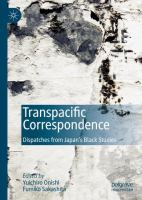 Cover image for Transpacific Correspondence Dispatches from Japan's Black Studies