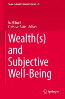 Cover image for Wealth(s) and Subjective Well-Being