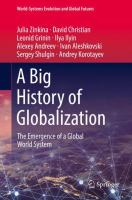 Cover image for A Big History of Globalization  The Emergence of a Global World System