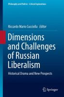 Cover image for Dimensions and Challenges of Russian Liberalism Historical Drama and New Prospects