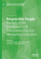 Cover image for Responsible People  The Role of the Individual in CSR, Entrepreneurship and Management Education
