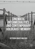 Cover image for Cinematic Intermedialities and Contemporary Holocaust Memory
