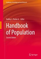 Cover image for Handbook of Population
