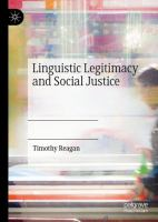 Cover image for Linguistic Legitimacy and Social Justice