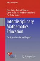 Cover image for Interdisciplinary Mathematics Education The State of the Art and Beyond