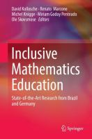 Cover image for Inclusive Mathematics Education State-of-the-Art Research from Brazil and Germany