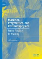 Cover image for Marxism, Pragmatism, and Postmetaphysics From Finding to Making
