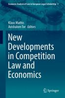 Cover image for New Developments in Competition Law and Economics