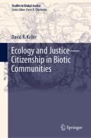 Cover image for Ecology and Justice-Citizenship in Biotic Communities