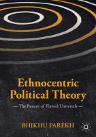 Cover image for Ethnocentric Political Theory The Pursuit of Flawed Universals