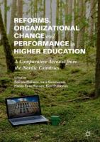 Cover image for Reforms, Organizational Change and Performance in Higher Education A Comparative Account from the Nordic Countries