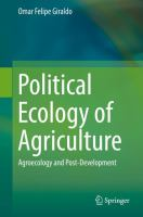 Cover image for Political Ecology of Agriculture Agroecology and Post-Development
