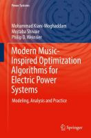 Cover image for Modern Music-Inspired Optimization Algorithms for Electric Power Systems Modeling, Analysis and Practice