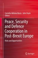 Cover image for Peace, Security and Defence Cooperation in Post-Brexit Europe Risks and Opportunities